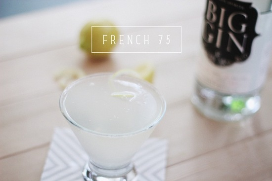 Summer wedding signature drinks French 75