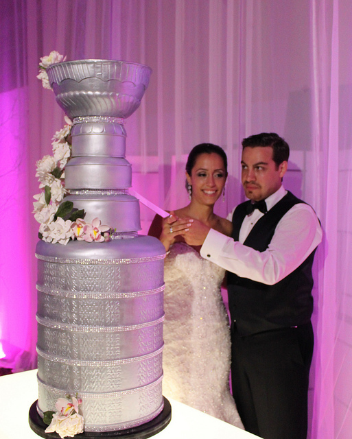 photo of Unique wedding cake silver Stanley Cup