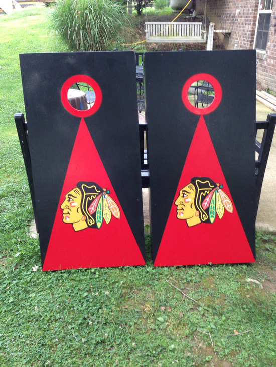 chicago blackhawks cornhole game