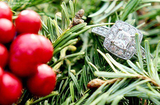 cushion cut engagement ring fall wedding photo