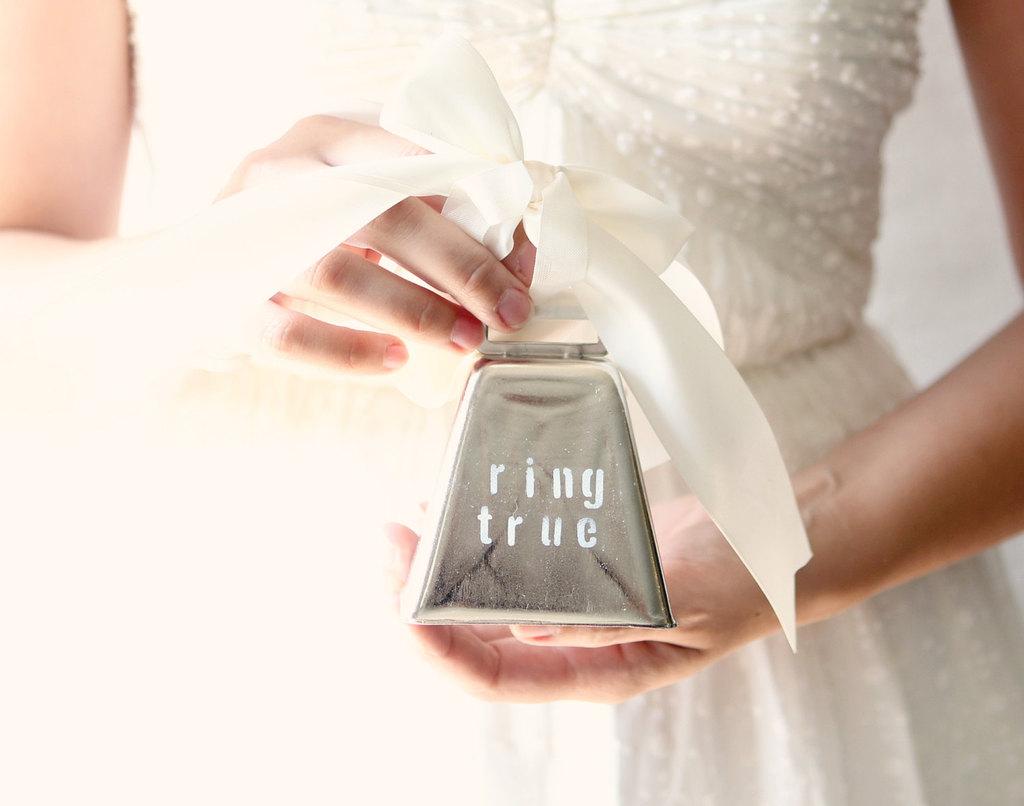 wedding ring bearer pillow alternatives silver bell