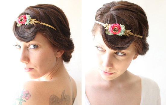 bohemian goddess wedding headband