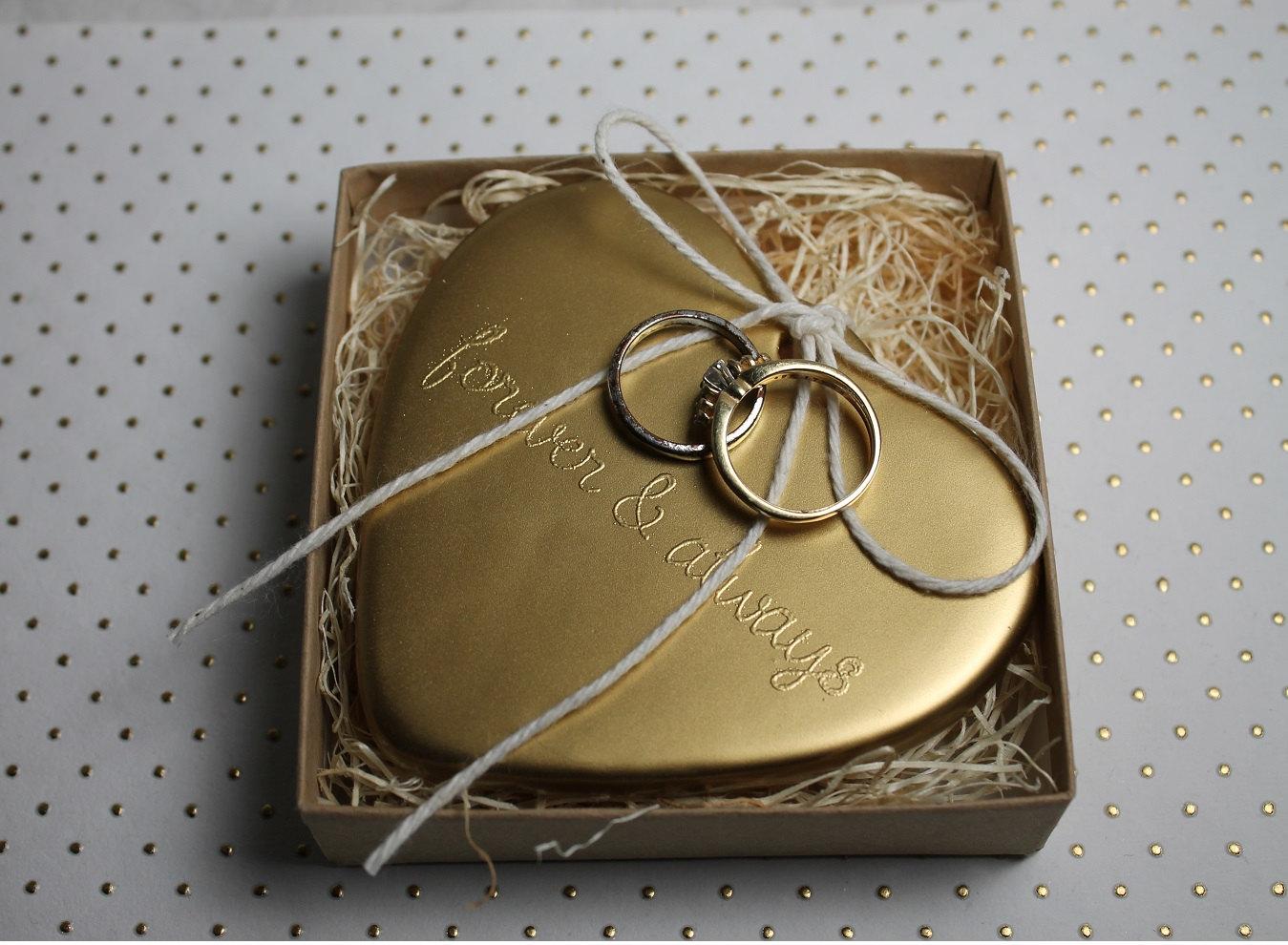 gilded wedding ring bearer alternative onewed