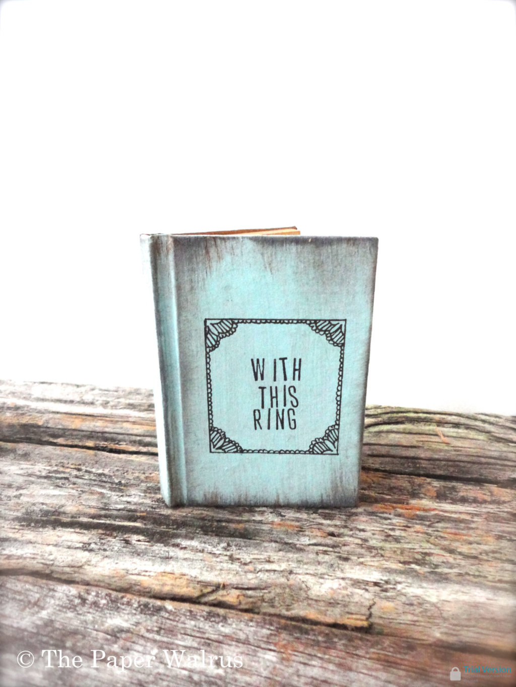 With This Ring wedding ceremony ring bearer box