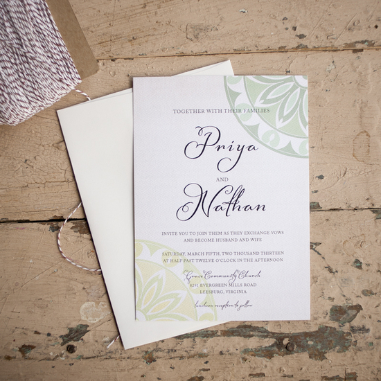 Woodland Charm Wedding Invitation