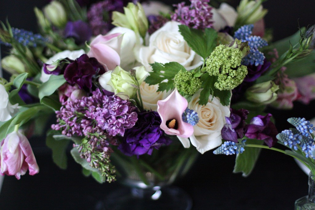 Spring-wedding-flower-centerpiece-green-and-purple.full