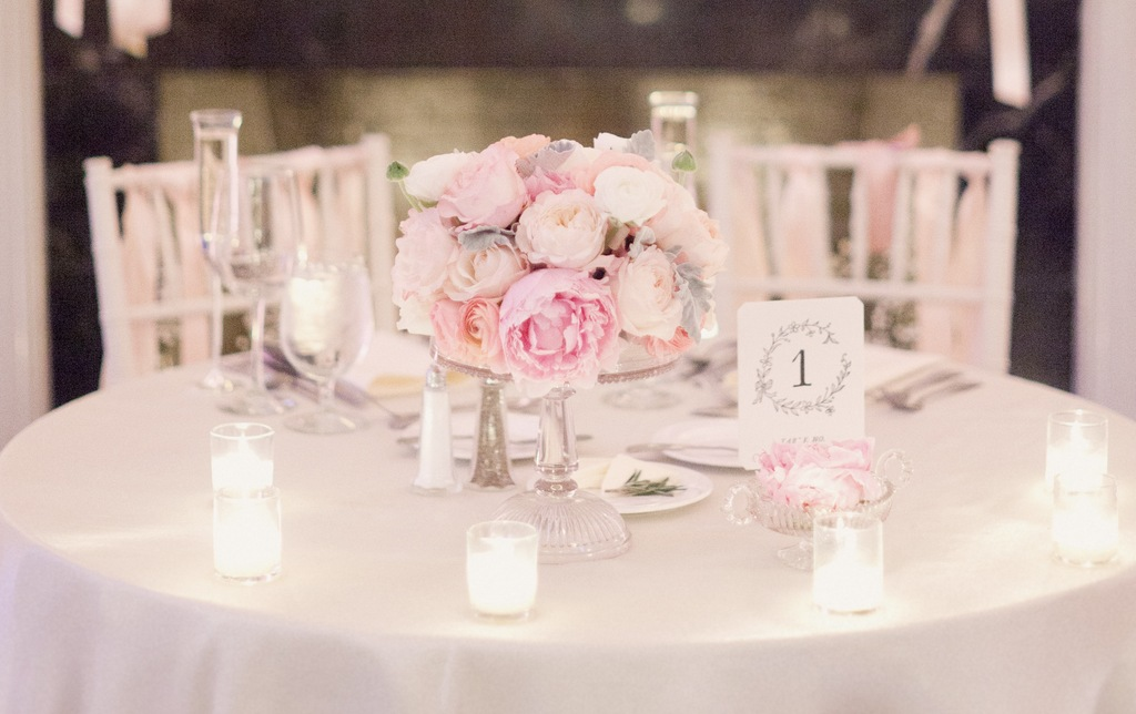 Wedding Flower Centerpieces Peonies Dreamy Pale Pink And Ivory Peony Centerpiece