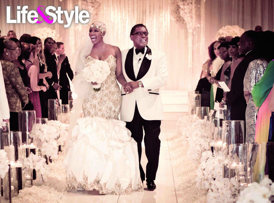 Reality T.V. Star NeNe Leakes walking down the aisle