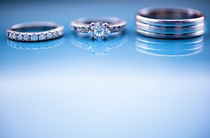 photo of Engagement Rings + Wedding Bands photographed in a gorgeous way!