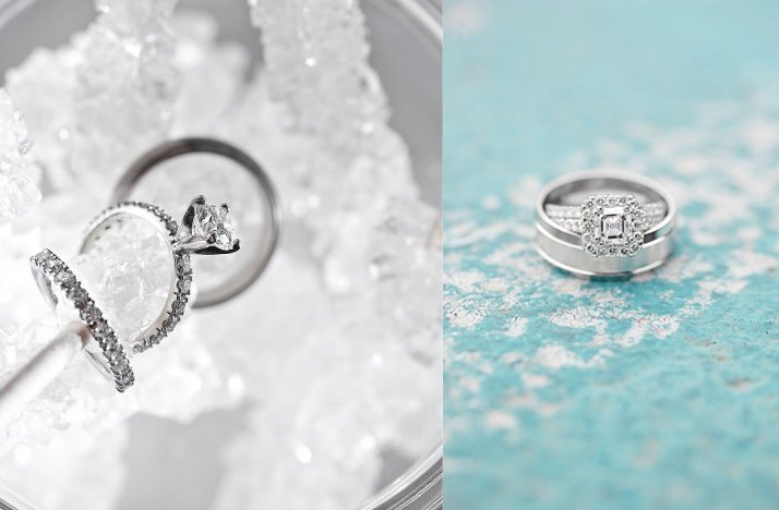 winter wedding inspiration engagement rings