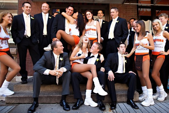 blackmail wedding photos hooters bridesmaids