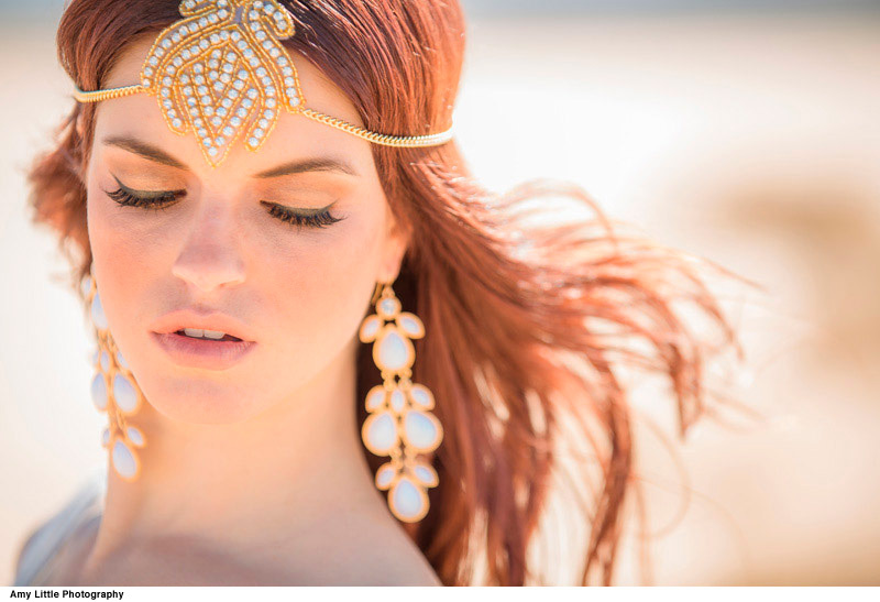 Grecian-goddess-bridal-inspiration-gold-beaded-headdress-and-chandelier-earrings.full