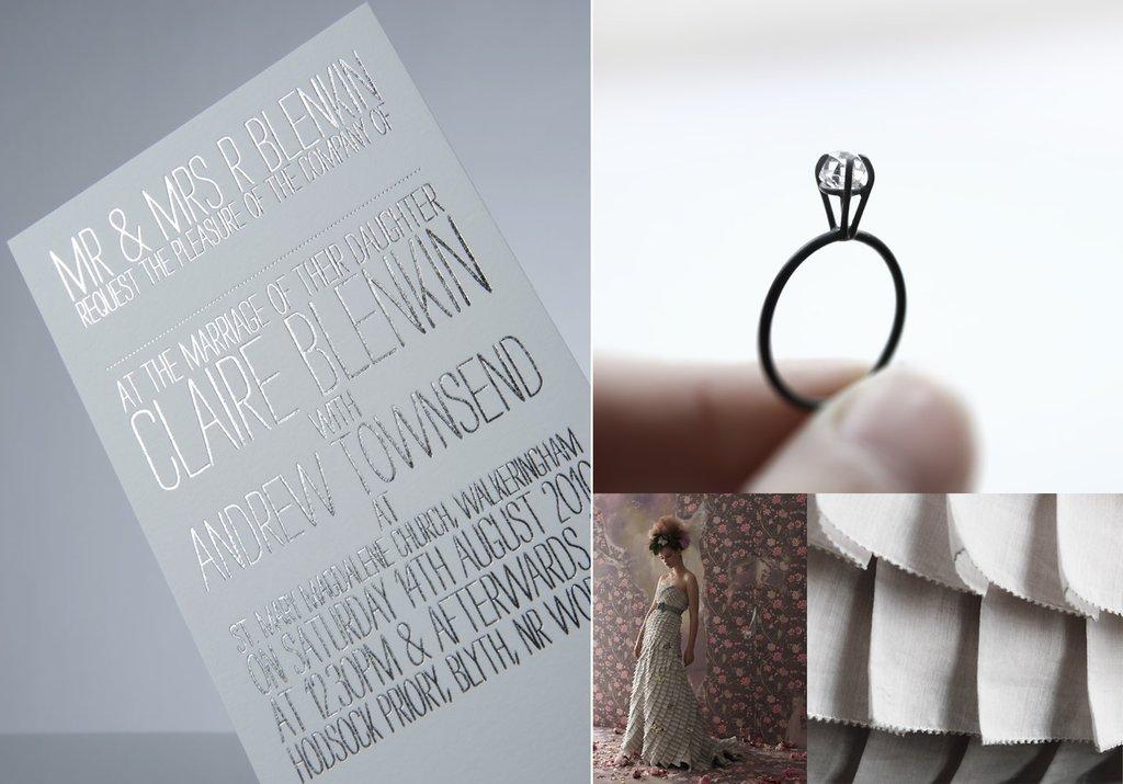 Silver-wedding-ideas-winter-wedding-stationery-bhldn-bridal-gown-engagement-ring.full