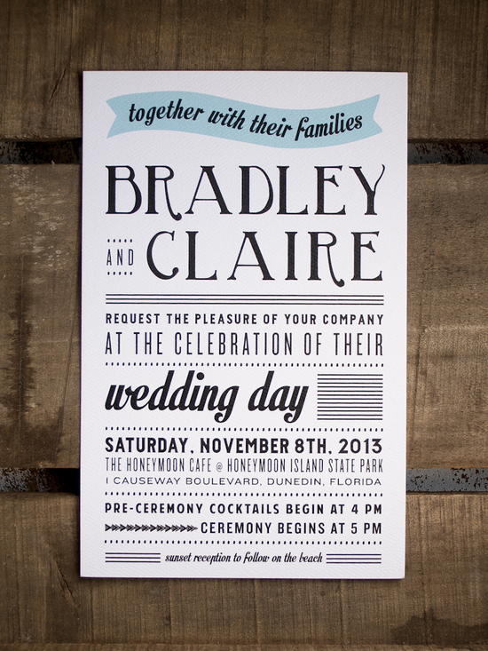 Infographic Style Wedding Invitations