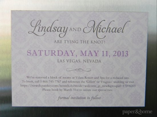Lindsay and Michael Magnet Save the Date