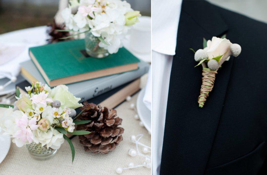 White Wedding Flowers Winter Reception Centerpieces