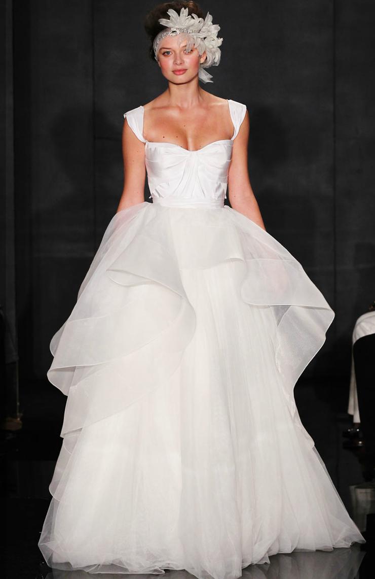 Reem acra 2012 wedding dress ballgown peplum for Peplum dresses for weddings