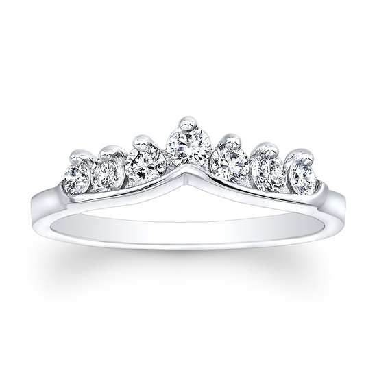 Platinum and diamond shadow band wedding ring