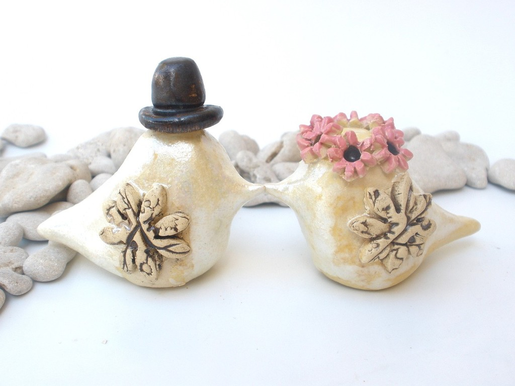 wedding cake toppers love birds etsy