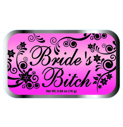 candy tin bride bitch mints