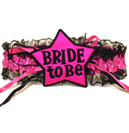 garter bride to be star