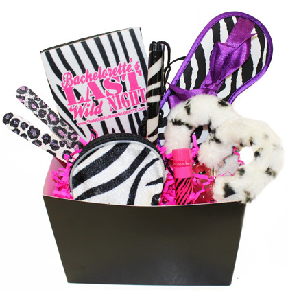 Gift Basket animal print zebra