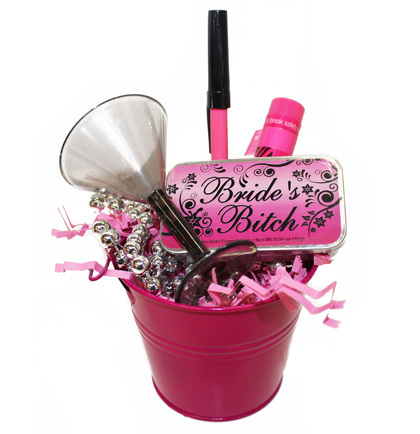 Gift Basket Bachelorette Favor Bucket