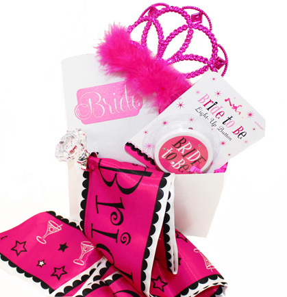 gift basket pink bride