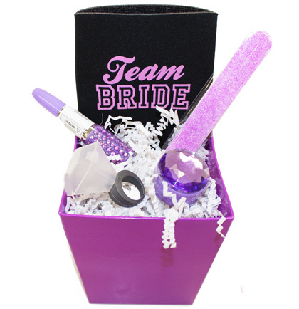 Gift Basket Team Bride Purple