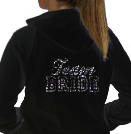 hoody black Team Bride
