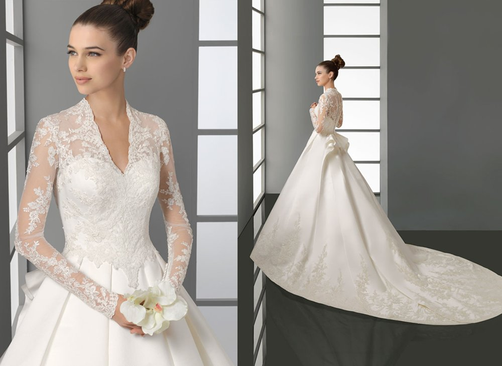 aire barcelona kate middleton inspired wedding dress