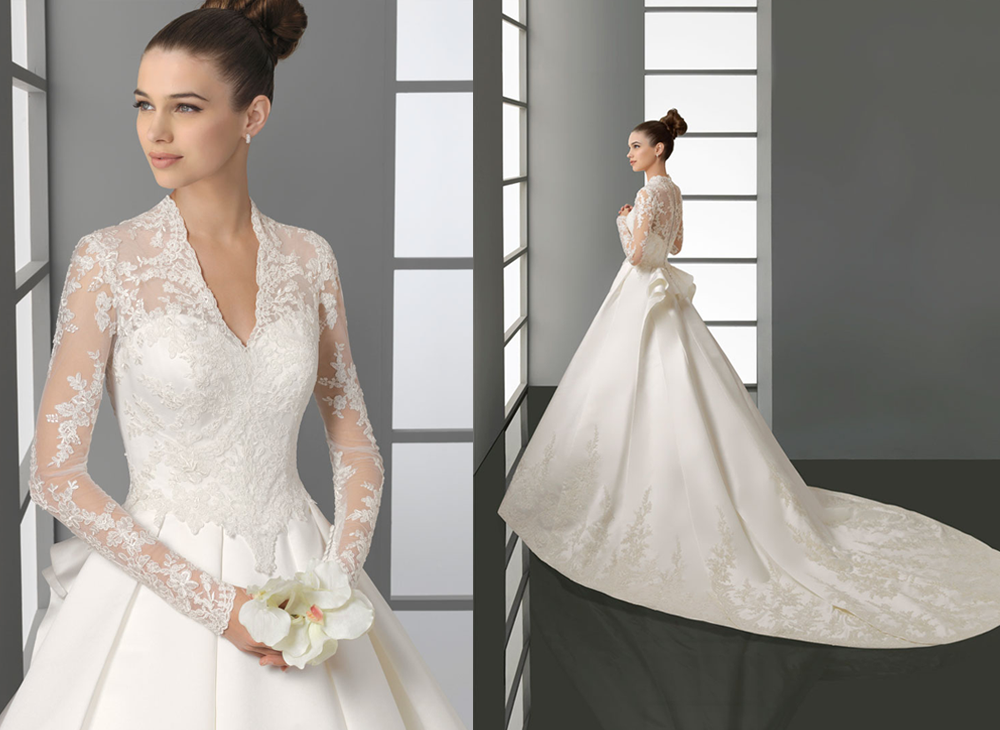 Aire barcelona kate middleton inspired wedding dress for Kate middleton wedding dress where to buy
