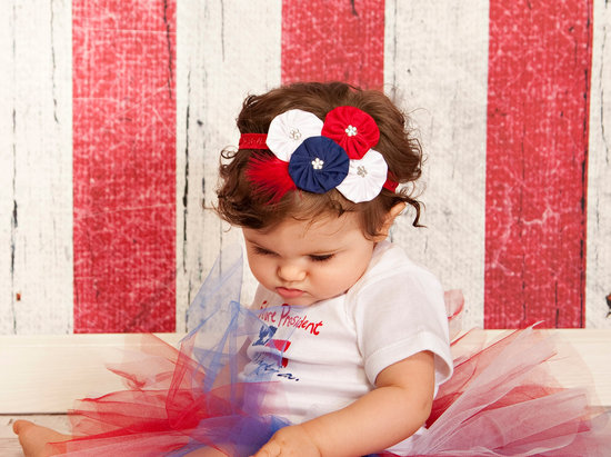 July Fourth Flower Girl getup