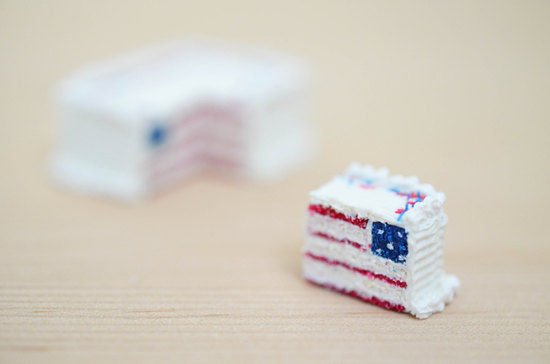 Mini fourth of July wedding cake