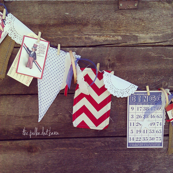 Vintage 4th of July wedding banner