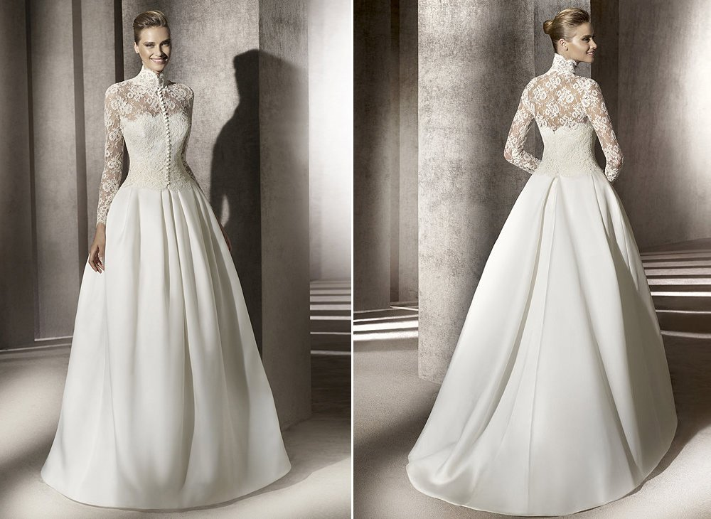 Lace-a-line-wedding-dress-pronovias.full
