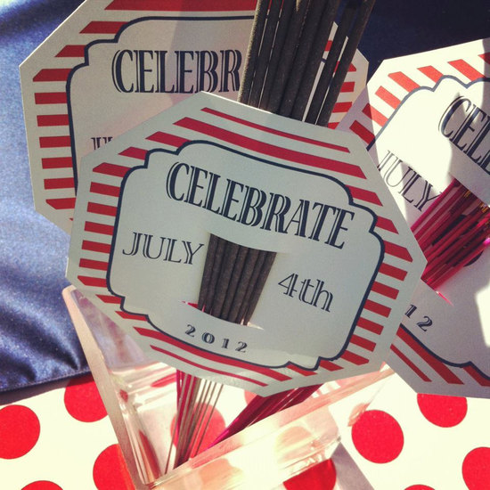 custom sparkler holders for 4th of July wedding