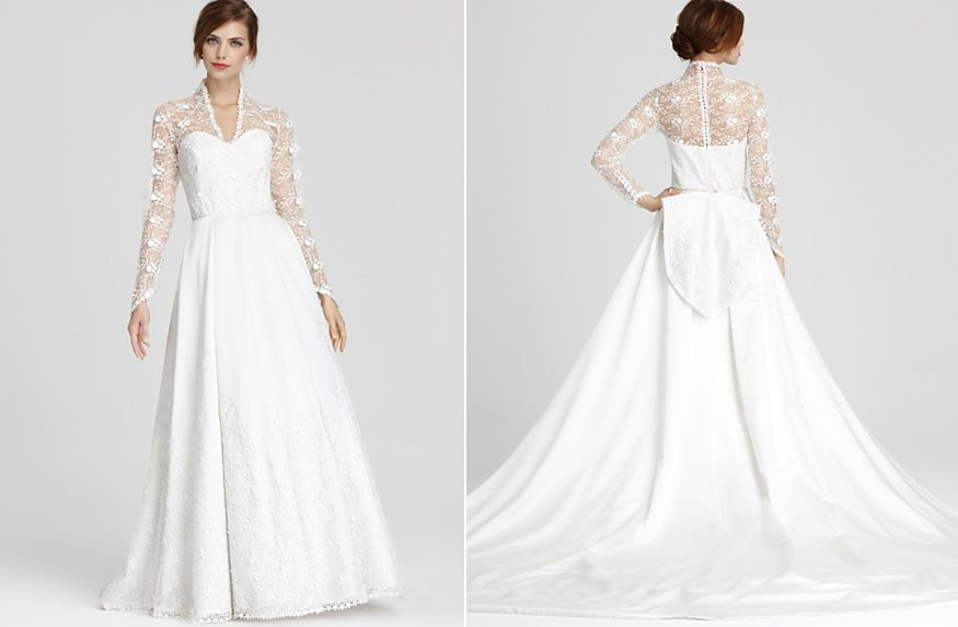abs wedding dress kate middleton inspired