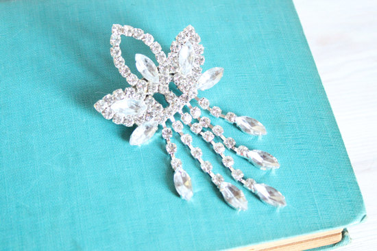 Gatsby inspired crystal wedding hair comb