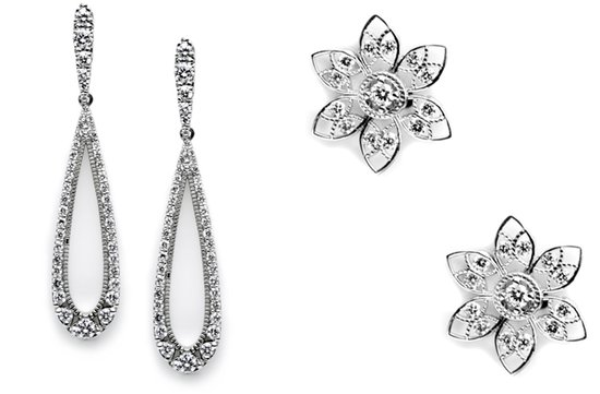 tacori wedding earrings bridal jewelry