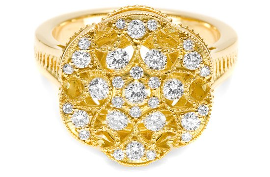 gold diamond wedding ring tacori