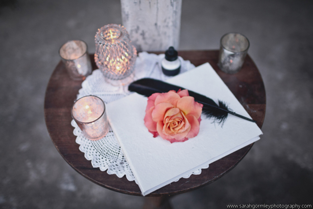 Sign in Table by Mobtown Florals