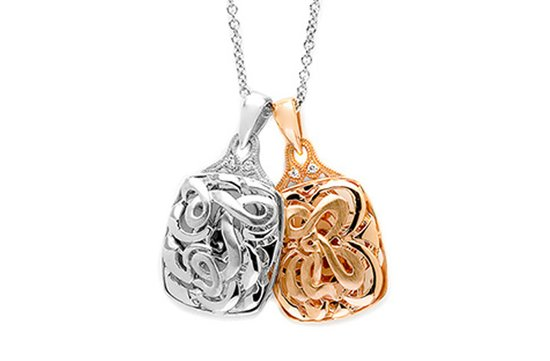 tacori wedding necklace rose gold