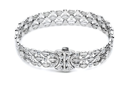 white gold diamond wedding bracelet tacori