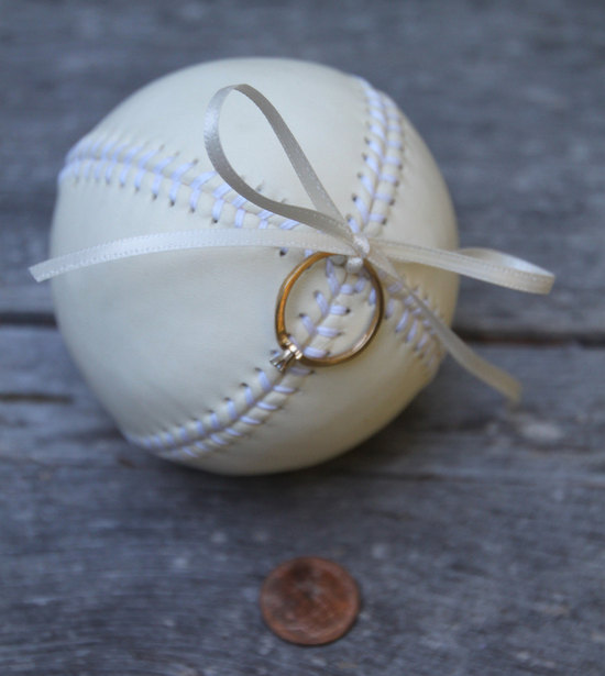 Baseball love ring bearer pillow alternative