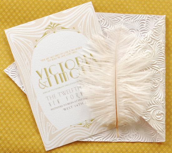 Ultimate great gatsby wedding invitation suite