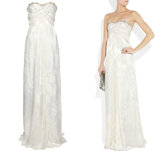 matthew williamson wedding dress 2012 printed bridal trend