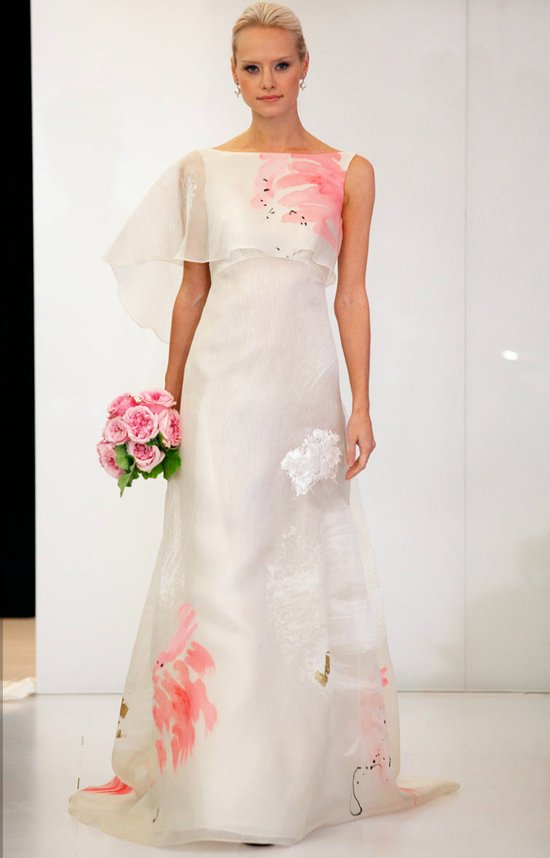printed wedding dresses 2012 bridal gown trend angel sanchez
