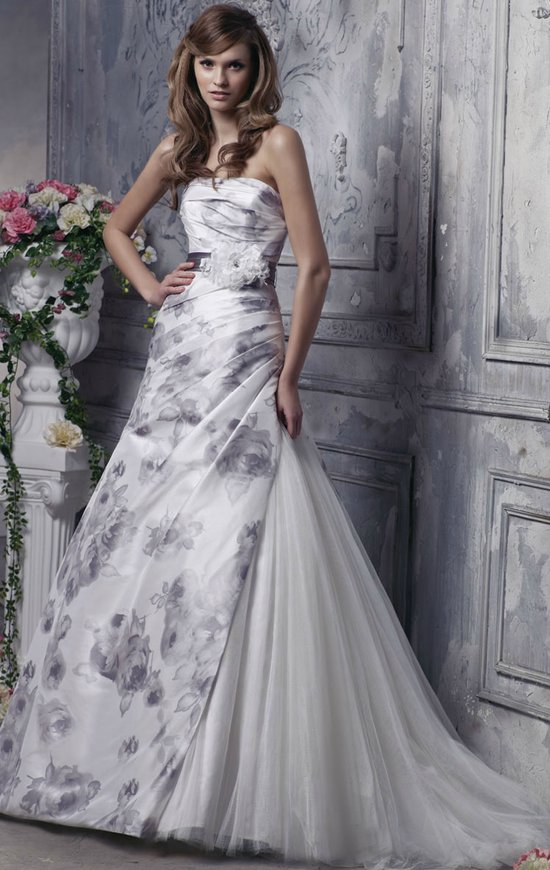 printed wedding dresses 2012 bridal gown trend anjolique