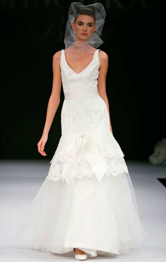 printed wedding dresses 2012 bridal gown trend lace mermaid